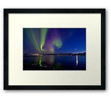 Aurora Borealis at Sortland strait Framed Print
