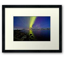 Aurora Borealis at the beach II Framed Print