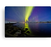 Aurora Borealis at the beach II Canvas Print