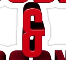 DOOBIES & BOOBIES - red. Sticker