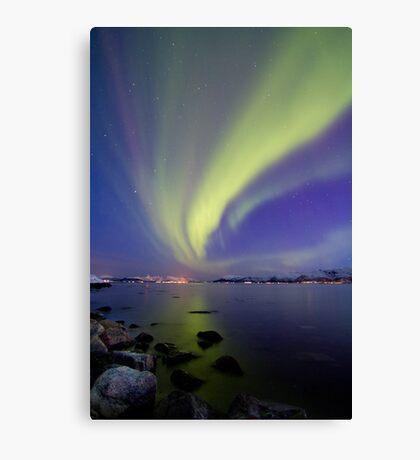 Aurora Borealis toward Stokmarknes Canvas Print
