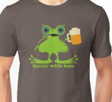 Funny sexy burping beer frog Unisex T-Shirt