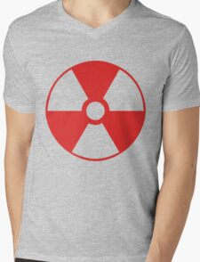 RADIOACTIVE. red. Mens V-Neck T-Shirt