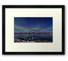 Auroras on the rocky beach II Framed Print