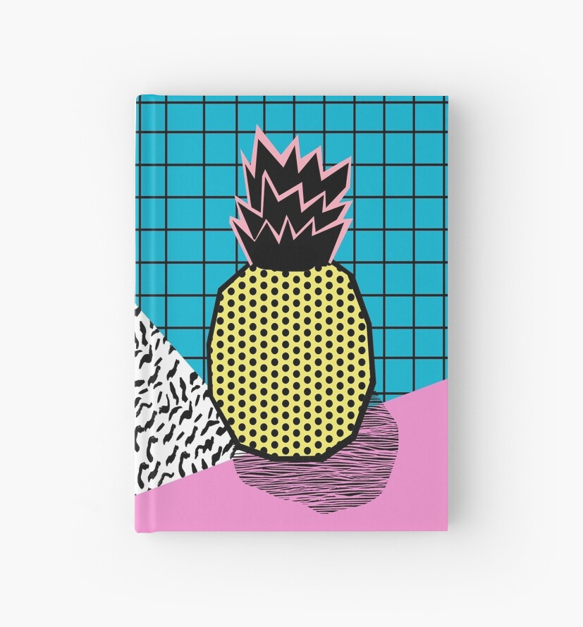 Quot Grindage Pineapple Fruit Tropical Pattern Memphis Style