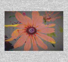 Light orange flower design One Piece - Long Sleeve