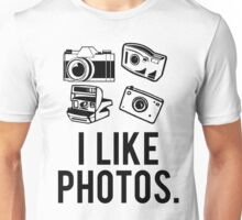 i like photos. Unisex T-Shirt