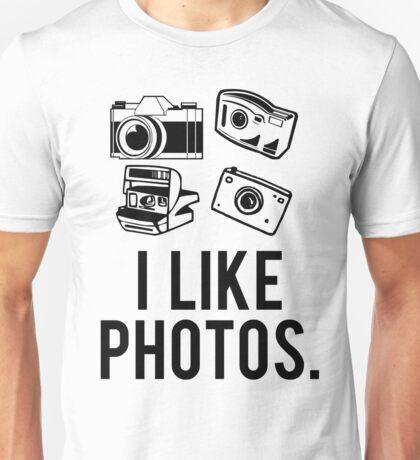 i like photos. Unisex T-Shirt