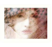 Behind a butterfly wing Art Print