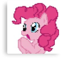 Pinkie Pie Pixel My Little Pony Brony Pegasister Canvas Print
