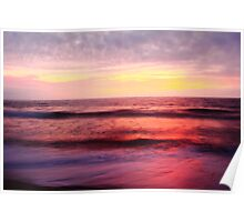Pastel Color Sea and Sky Poster