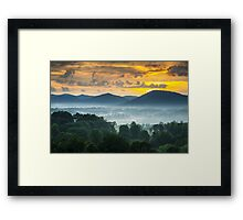 Asheville NC Blue Ridge Mountains Sunset - Welcome to Asheville Framed Print