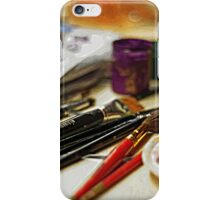 brush and paints iPhone Case/Skin