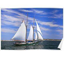 Schooner Sailing on Cape Cod Bay Poster