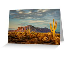 The Desert Golden Hour Greeting Card