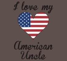 I Love My American Uncle Baby Tee