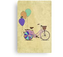 Love to Cycle on my Pink Bike Metal Print