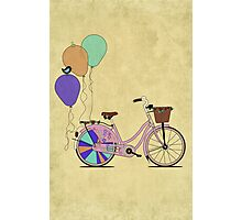 Love to Cycle on my Pink Bike Photographic Print