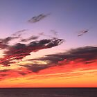 Sunset Sky over Cape Cod Bay by Roupen  Baker