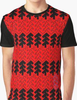 Shubie Highlight Black & White Forest Graphic T-Shirt