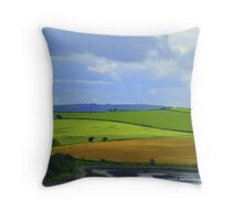 A Layered Landscape Throw Pillow