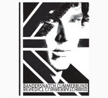 BANDERSNATCH CUMMERBUND in black and white by redmoonrabbit
