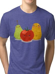 Funny Fruits Fun Pack 2 Tri-blend T-Shirt