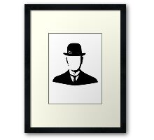 son of man appleless - black Framed Print