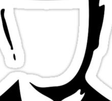 son of man appleless - black Sticker