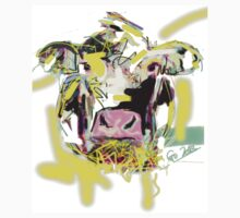 Cow Happy, bed cover One Piece - Short Sleeve