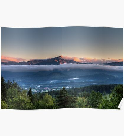 Sunset up above Poster