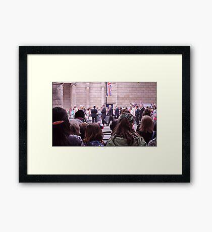 The Royal Wedding Framed Print