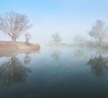Misty river by Stanislav Salamanov