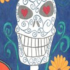 Sugar Skull Blue Phone Case by scifigoofy