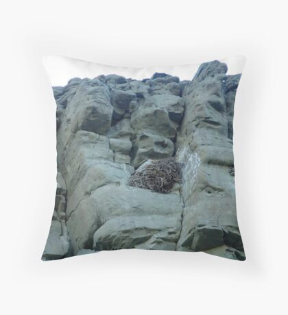 EAGLES NEST AND CLIFF SWALLOW DWELLINGS - BIG TIMBER, MT Throw Pillow