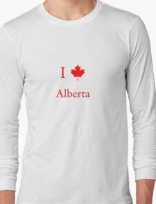 I Love Alberta Long Sleeve T-Shirt