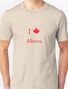 I Love Alberta Unisex T-Shirt