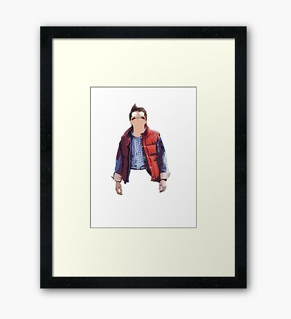 Morty McFly Framed Print