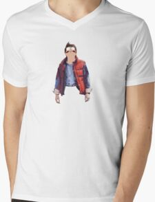 Morty McFly Mens V-Neck T-Shirt