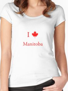 I Love Manitoba Women's Fitted Scoop T-Shirt