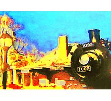 All Aboard...Steam Train Station Photographic Print