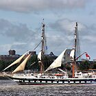 Sailing Ship on the Mersey by Brian Beckett