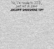 Mulder's jagoff shoeshine tip (black letters) Mens V-Neck T-Shirt