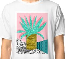 In the Mix - potted house plant tropical garden container garden art print botanical natural vegetarian palm dorm room art Classic T-Shirt