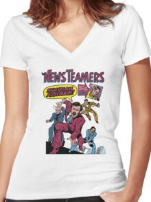 News Team Assemble! Women's Fitted V-Neck T-Shirt