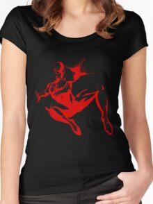 Spiderman Stencil Women's Fitted Scoop T-Shirt