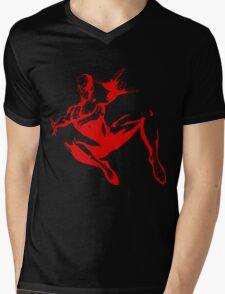 Spiderman Stencil Mens V-Neck T-Shirt