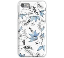 Blue flowers in my bed iPhone Case/Skin