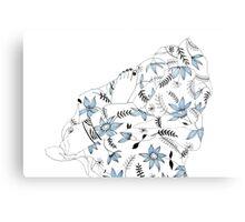 Blue flowers in my bed Metal Print