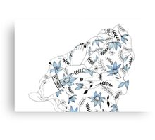 Blue flowers in my bed Canvas Print